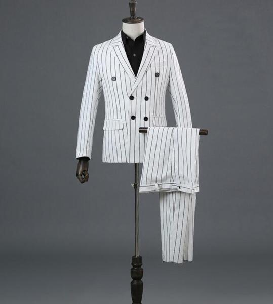 63b24d3b68674 新品 メンズ 紳士 礼服 声楽 スーツ3点セット 声楽 コーラス オーケストラ衣装 舞台ストライプ ダブル
