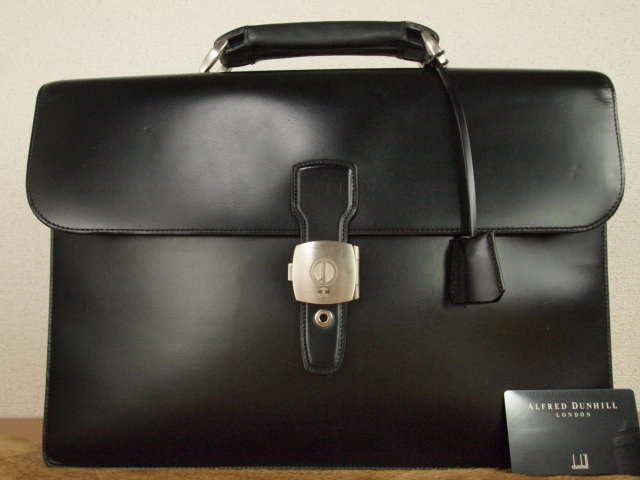 b66cba076a27 極美品 本物 dunhill ダンヒル ビジネス 書類バッグ ブリーフケース セカンドバッグ セット 鍵付き