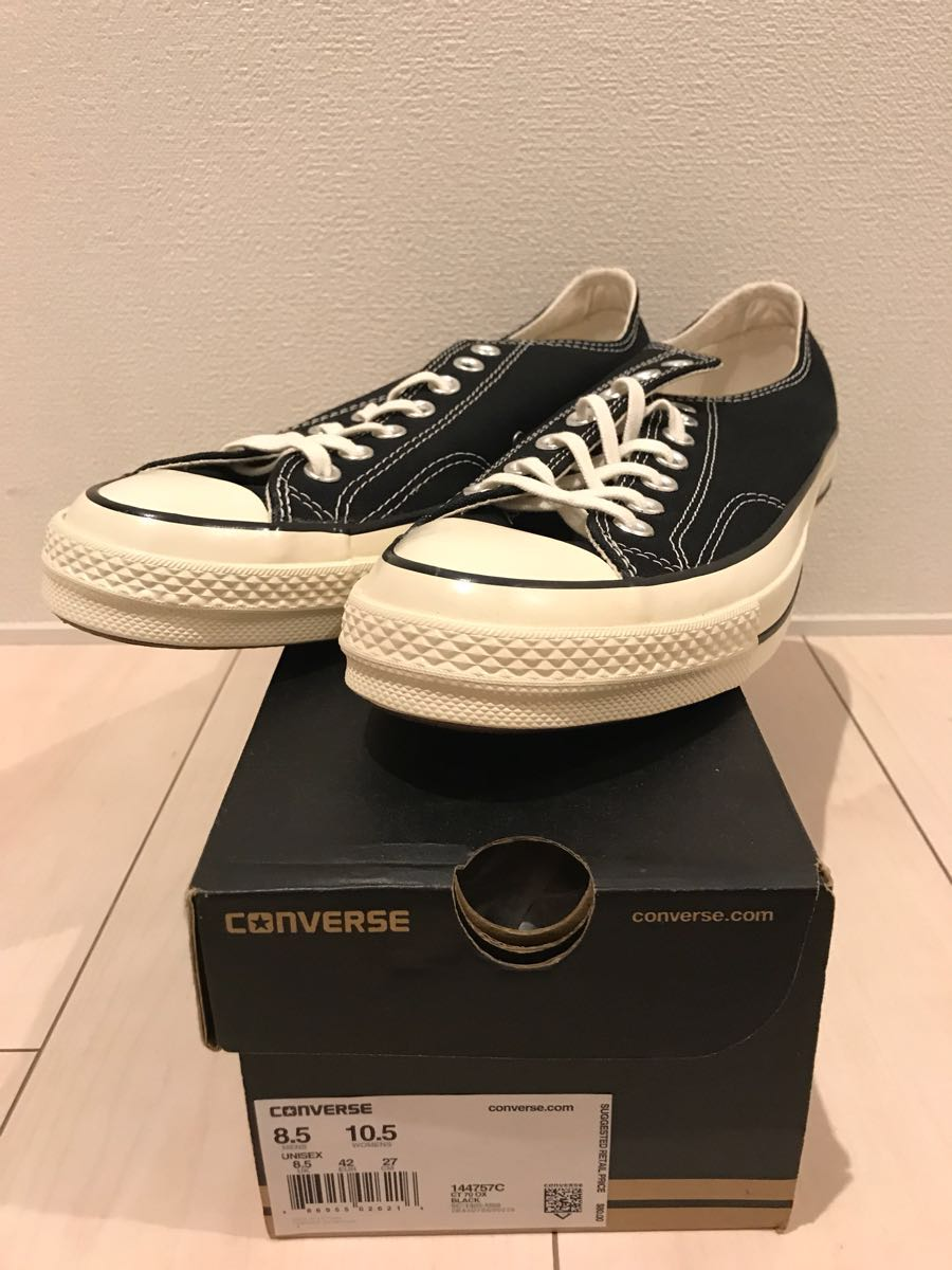 cebe5505a3a3 直営店購入 CONVERSE CT70 OX BLACK 27cm US8.5 Chuck Taylor ALL STAR コンバース