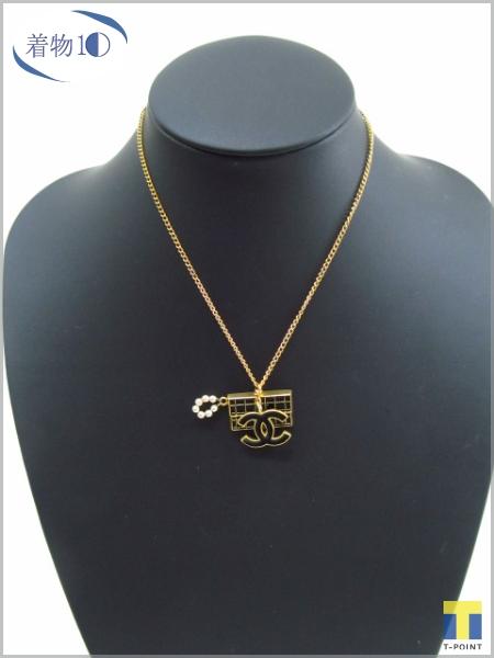 88c99a497e53 CHANEL シャネル ココマーク マトラッセバッグ ペンダント ネックレス 黒/ゴールド