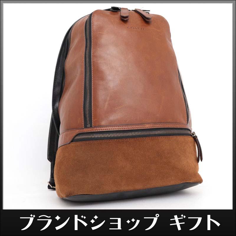 151acb652c3f 1円 COACH コーチ リュックサック 定価9.7万 ブラウン ブラック レザー 本革 メンズ レディース