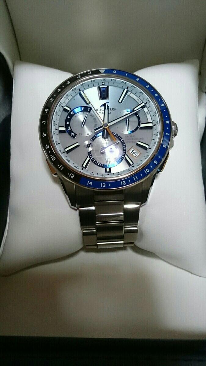 c1bda327f8 定価324,000円 美品 カシオ CASIO オシアナス OCEANUS ハイブリッド GPS 電波ソーラー 腕時計 OCW-