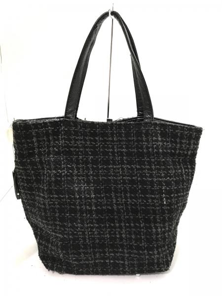 3b232a9d73c7 ... ルートート ROOTOTE バッグ トートバッグ ツイード 黒×グレーの3番目の画像