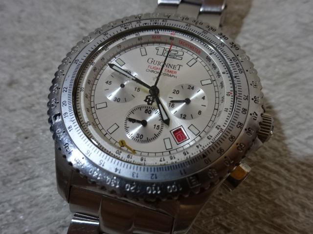 1e948827f4 ☆P GUIONNET BR400-M 腕時計 クロノグラフ アナログ PARIS FLIGHT TIMER ギオネ フライトタイマー