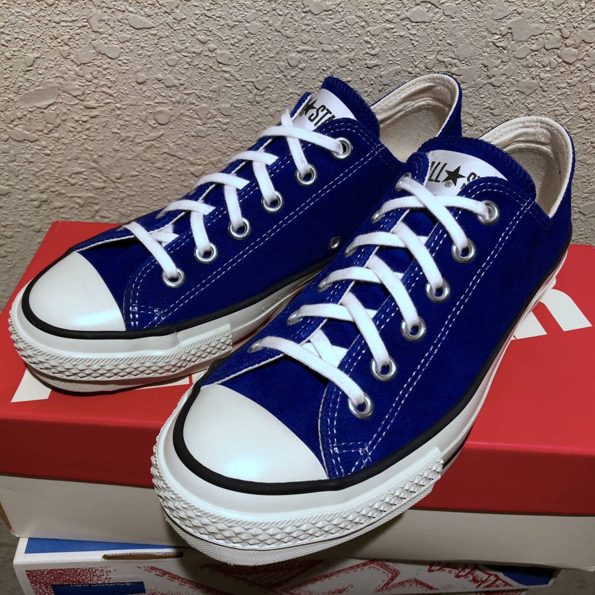 f54438298e69 中古 1回着用のみ 超美品 CONVERSE ALL STAR SUEDE AS J OX ROYAL BLUE ...