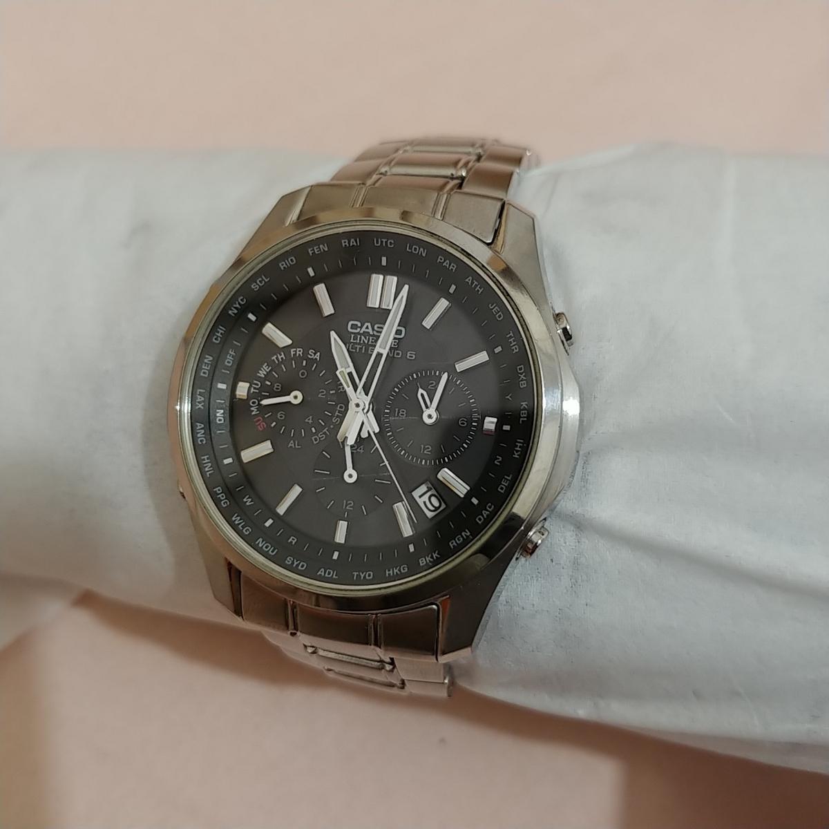 0966acb03b 1円~カシオ CASIO リニエージ LIW-M610 電波 ソーラー メンズ 腕時計 CASIO LINEAGEの