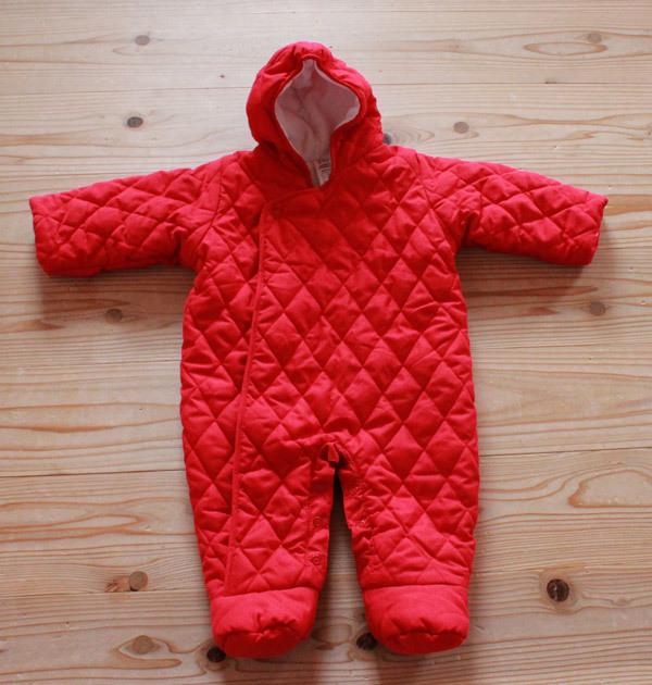 d656b4ab09fd93 訳あり baby GAP ベビーギャップ ジャンプスーツ フリース 3-6month 70cm ベビー ロンパース 防寒
