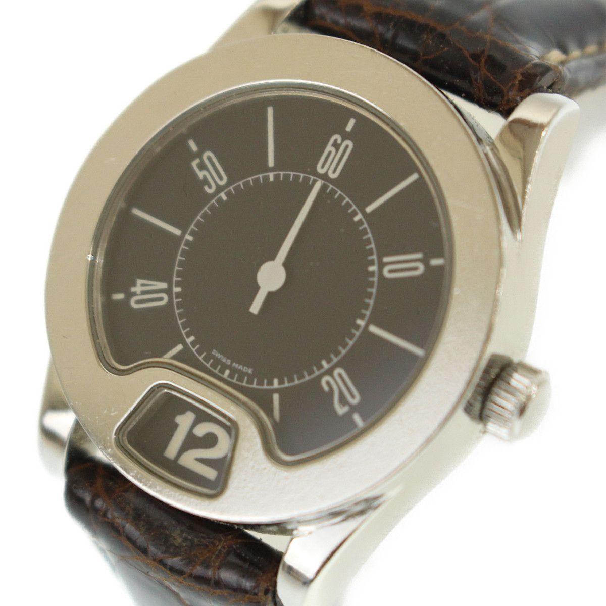 16058f42c67c 1円~ GIANNI BULGARI ジャンニブルガリ ジャンピングアワー レディース腕時計 クオーツ 114161S 社外ベルト【