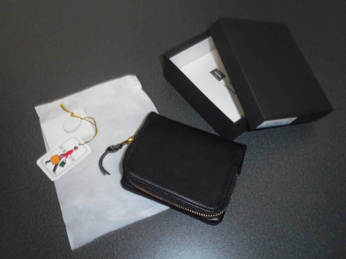 961862e4ea1f PORTER SOAK ポーター ソーク 2つ折り財布 美品 黒 101-06054 L字 ウォレット