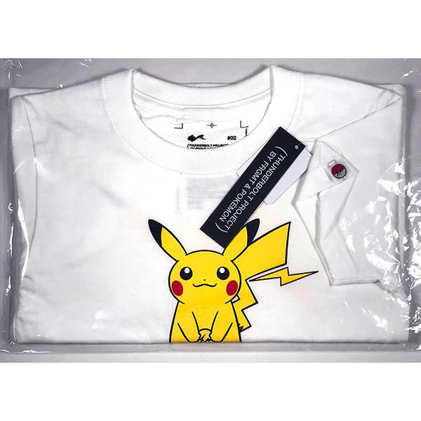 8a47c57aaf225 ... M POKEMON ポケモン ピカチュウ KIDS キッズ 110 銀座限定 Fragment Tシャツ WHITE 白  THUNDERBOLT PROJECT