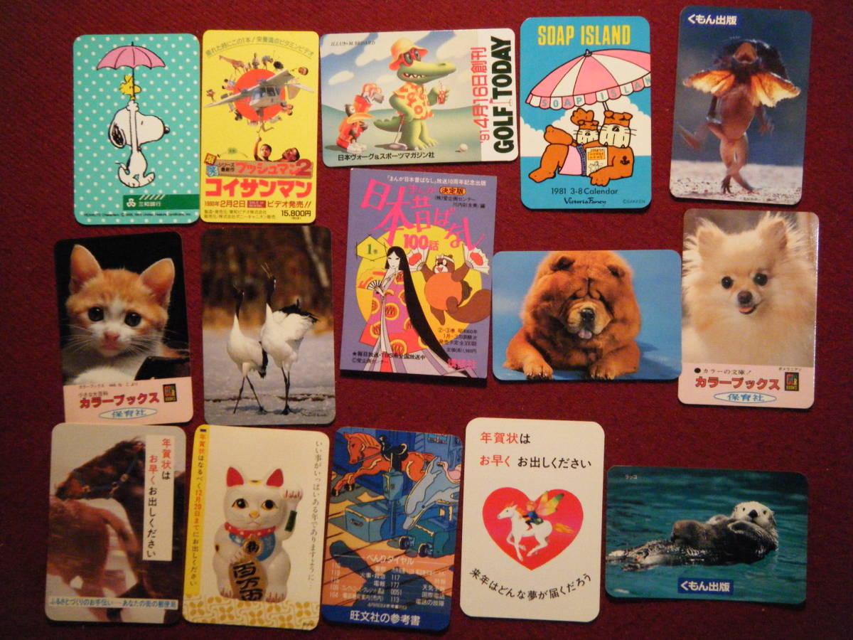 4 ポケットカレンダー 動物の写真やイラスト 15枚エリマキトカゲ
