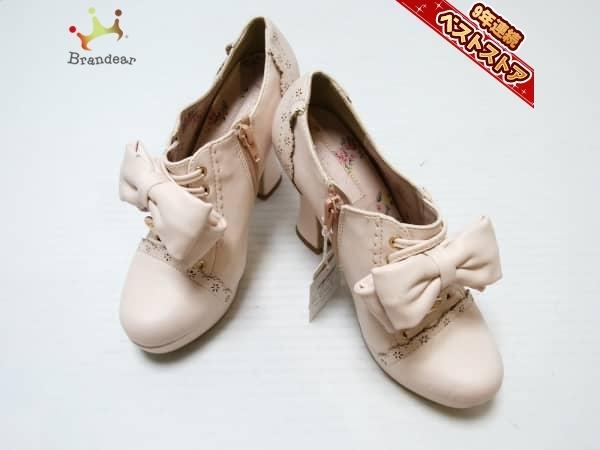 4242564b1169 リズリサ LIZLISA 靴 ブーティ M 合皮 ピンク レディース リボンの1番目の画像