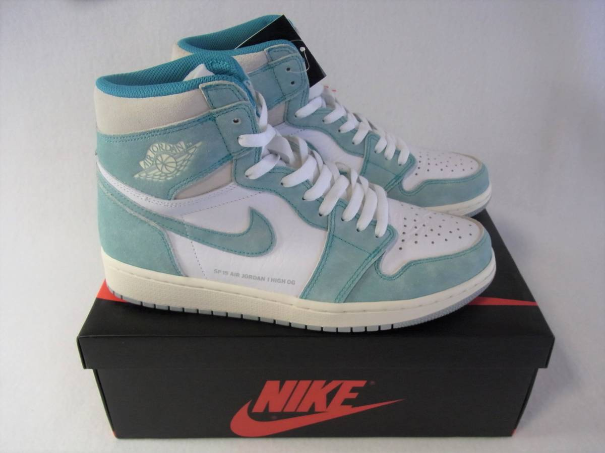 Men Nike Air Jordan 1 Retro High Og I Aj1 Turbo Green Sail Grey Men Shoes 555088-311