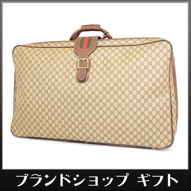 0449c20a7518 1円 美品 GUCCI オールドグッチ ヴィンテージ トランクケース GGプラス PVC レザー シェリー スーツ