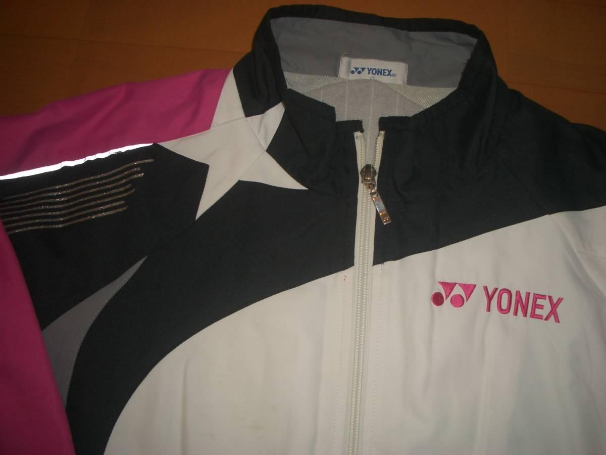 0bb0001a88e035 ▽美品!【ヨネックス YONEX ウインドウォーマージャケット(白×黒×ピンク ...