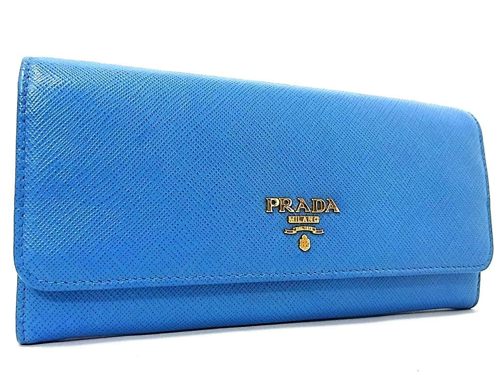 45a9d4177a69 1円 □極美品□ PRADA プラダ ロゴ ゴールド金具 サフィアーノレザー レディース 二