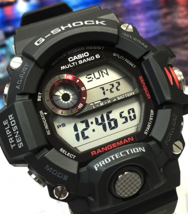 acce5a87c7 新品 CASIO カシオ G-SHOCK Gショック 正規品 RANGEMAN レンジマン 電波ソーラー 腕時計 トリプル