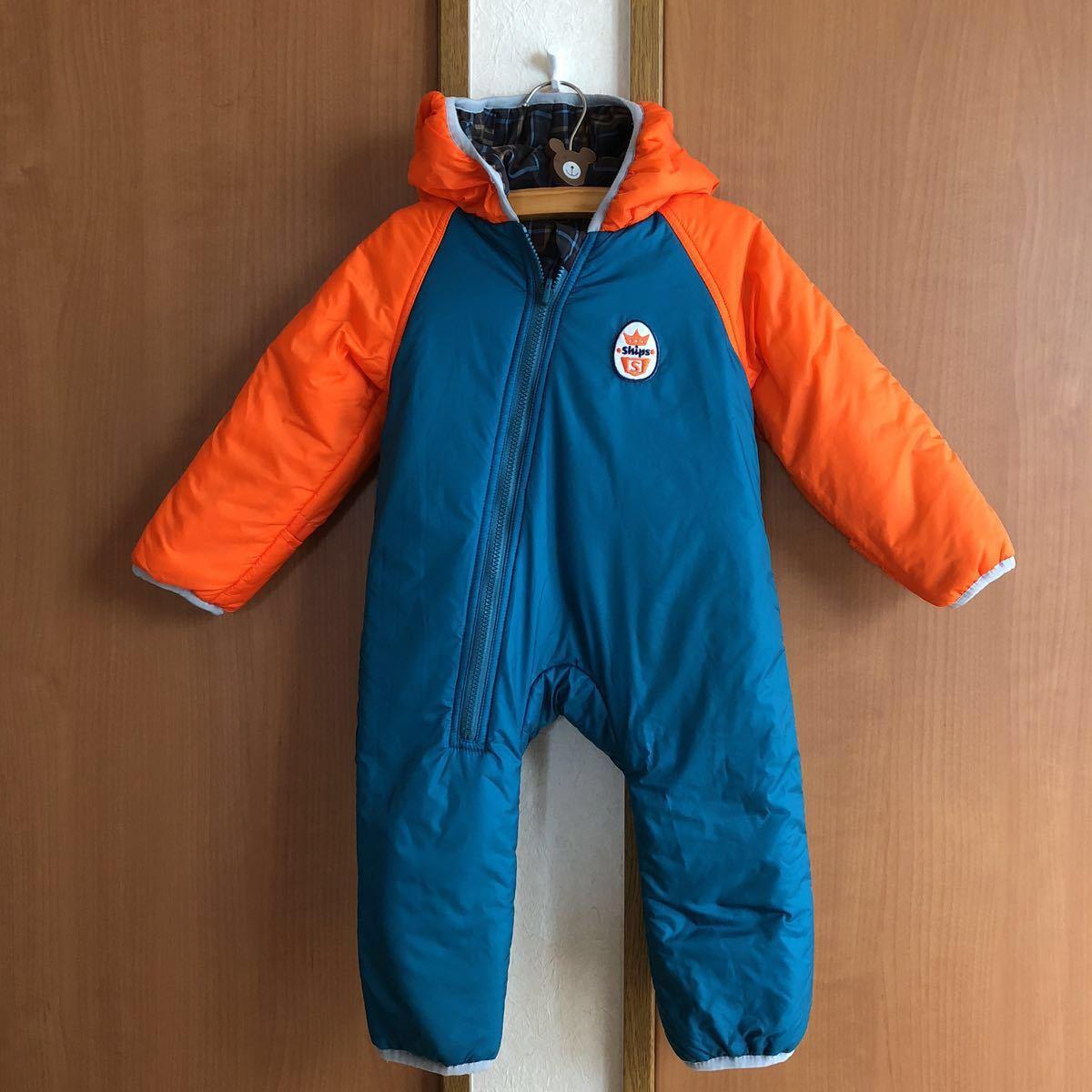 a9cfa7fe13d09 良品 シップス SHIPS リバーシブル ジャンプスーツ 防寒 カバーオール 80 90 送料500円~の1