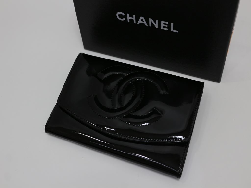 3c31fa05dae2 正規美品【CHANEL/シャネル】ココマーク コインケース・カードケース ブラック