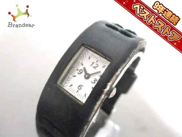 6133a86d3c 中古】ZUCCA(ズッカ) 腕時計 - レディース 革ベルト/CABANE de ZUCCA 白 ...