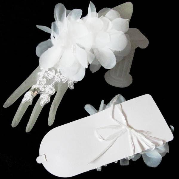 b1503d495ae7eb ... 送料無料 ウェディング ショート グローブ レース フラワー リボン ブライダル ハンド 花嫁 結婚式 パーティー 手袋 即決 ...