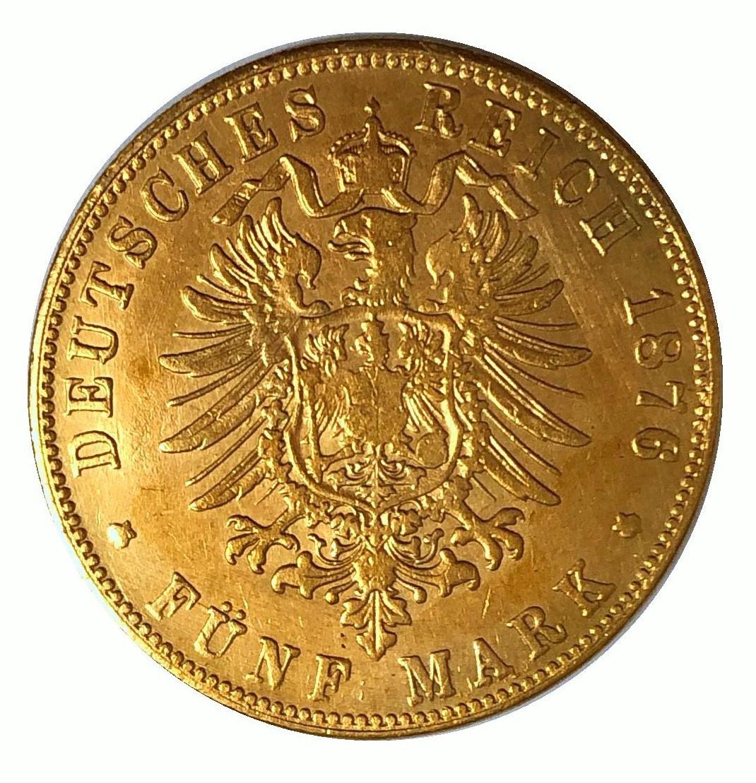 中古】1876年銘 ドイツ皇帝ウィリアム国王 大型金貨 金幣 稀少 金貨 ...