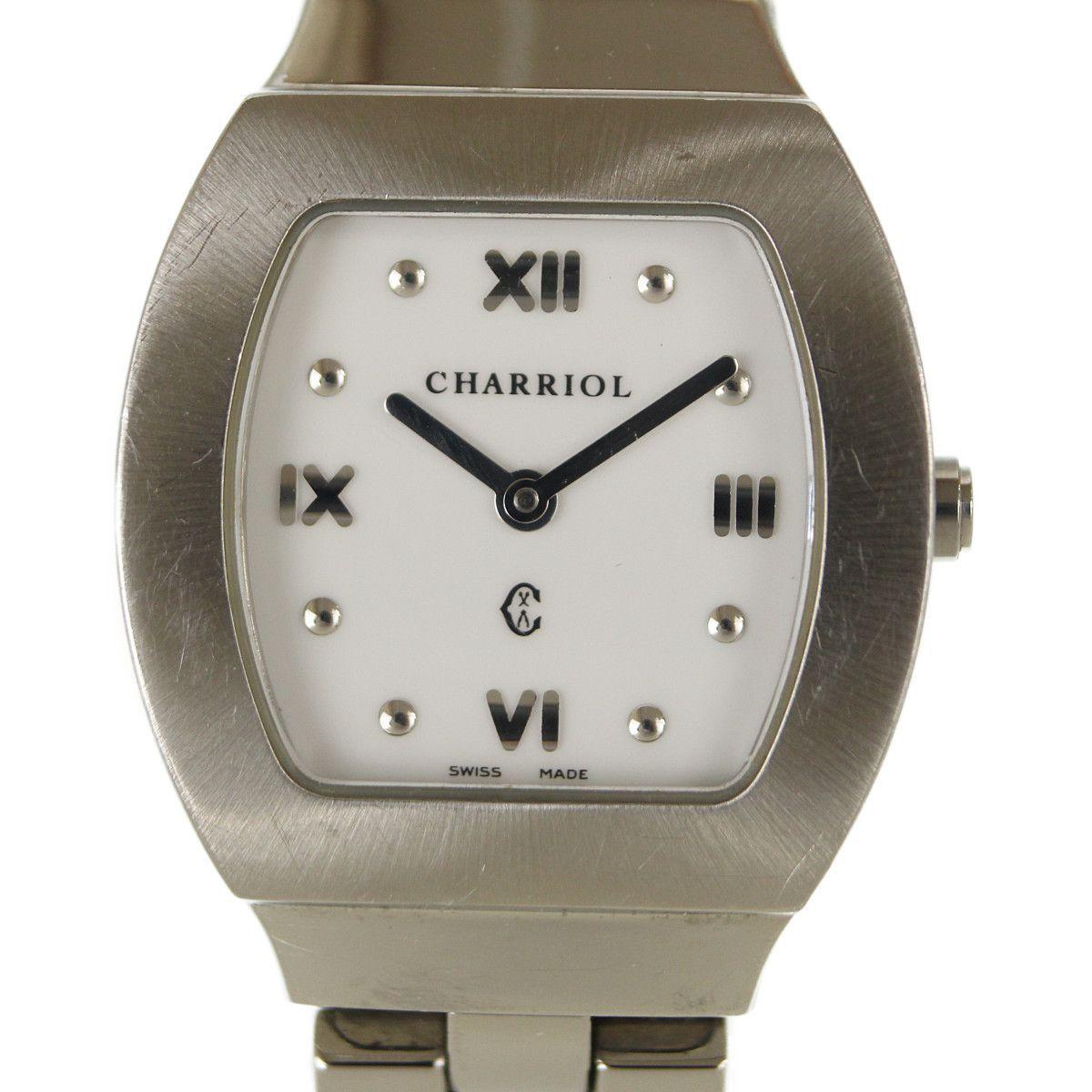 682e7325ccb3 1円~ CHARRIOL シャリオール AZURT アジュール レディース腕時計 クオーツ 女性用【中古】236450