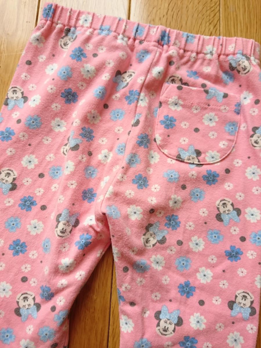 c801afb5a52e5 送185円 3枚セット 90 レギンス 長ズボン 花柄 ネイビー 紺 ピンク ...