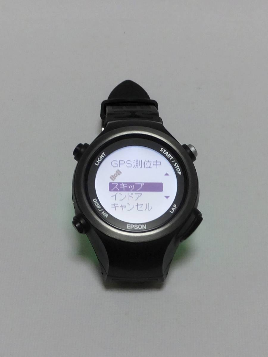 3e4157e303 ... 【ランニングウォッチ】EPSON WristableGPS SF-810 ブラック 腕時計型 GPS【データ更新 ...