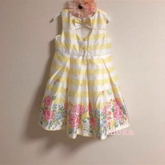 d52abecb7a8d6 ... 新品 Little me 110 120 リトルミー ワンピース 花柄 フラワー 結婚式 お誕生日 ドレス ...