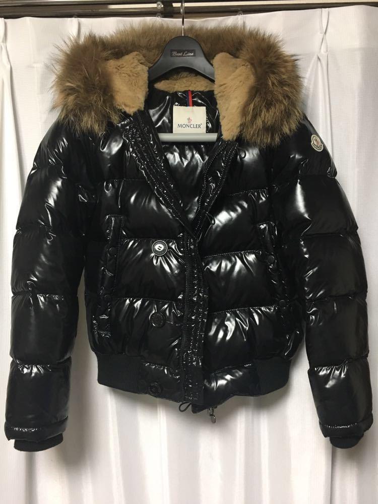 f17b89a5d284 MONCLER ブルガリ サイズ0 ブラック モンクレール BULGARIE 美品の1番目の画像
