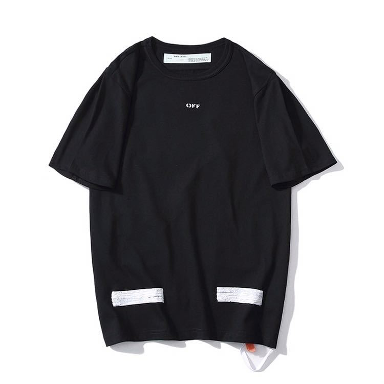 dd3cb7e6df590 オフホワイト off-white ブラックTシャツ メンズ Sサイズ 人気デザイン 矢印 プリント の