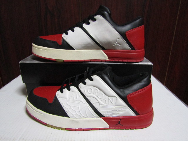 e880eddee7c 新品】NIKE NU RETRO AIR JORDAN 1 LOW 白赤黒 2002年製 302371-011 29cm ...