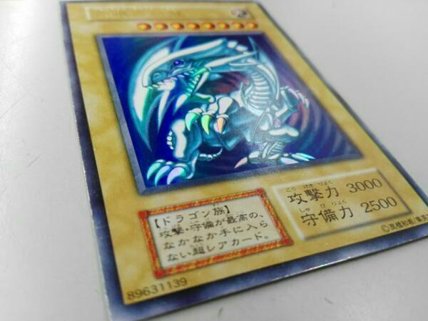 中古青眼の白龍ブルーアイズホワイトドラゴン背景青色初期