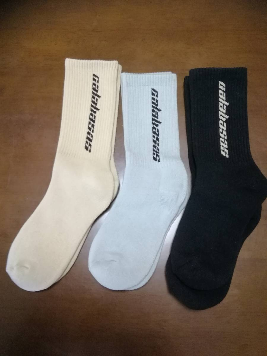 7ace3fab6 新品 YEEZY SEASON6 Socks 3色セット正規YEEZY Supply購入品 の落札情報 ...