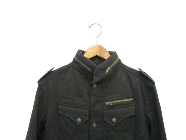 ba4a5ed84eca ... エムケーミッシェルクランオム MK MICHEL KLEIN HOMME ジャケット ミリタリー XL ブラック 黒 /KT11 メンズ