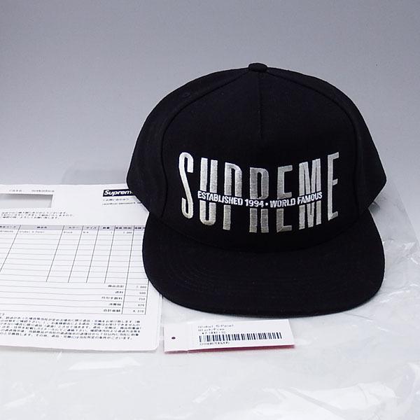 f1feb91a 正規品 美品 18aw Supreme Global 5-Panel Black シュプリーム CAP キャップ ブラックの