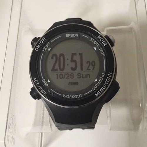 651eafd8b6 EPSON Wristable GPS ランニングウォッチ GPS機能 SF-720B の落札情報 ...