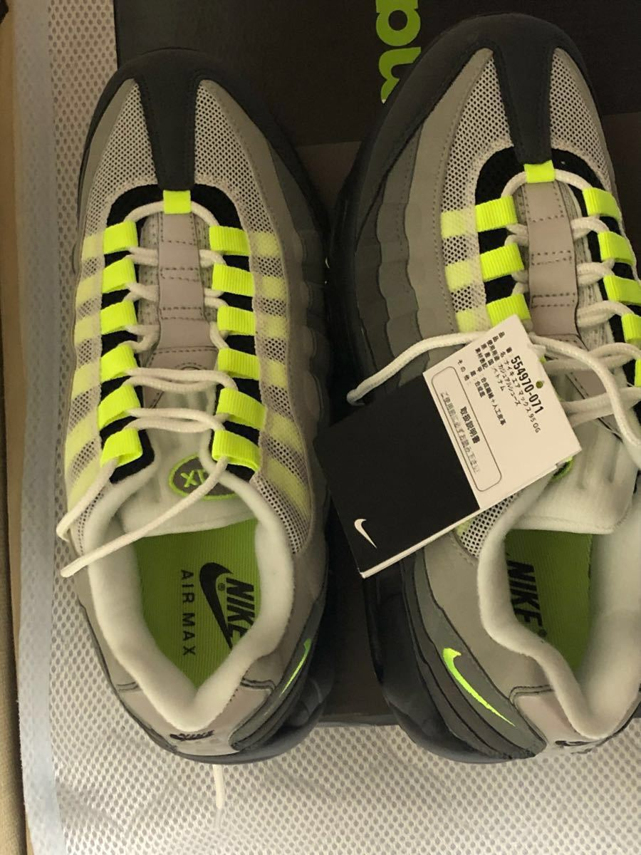 sneakers for cheap 01298 5cebe ... 26.5NIKE AIR MAX 95 OG NEON YELLOW GRADATION ナイキ エア マックス ネオン イエロー  グラデーション 554970