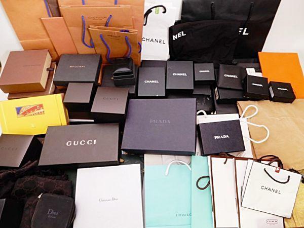 49ad864e7e2c ブランド ショップバッグ ショッパー 紙袋 布袋 空箱 ケース セット まとめ売り シャネル