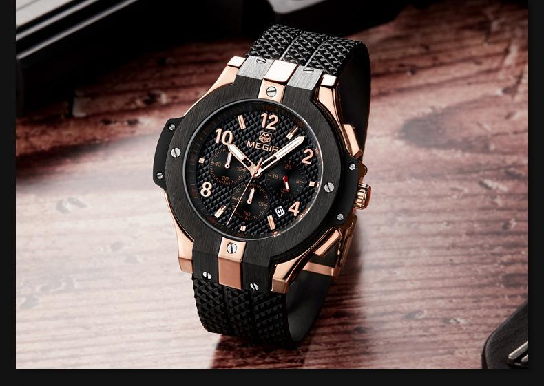 wholesale dealer 829a9 ce07a 新品】高級MEGIR HUBLOTstyle ウブロビックバンオマージュ ...