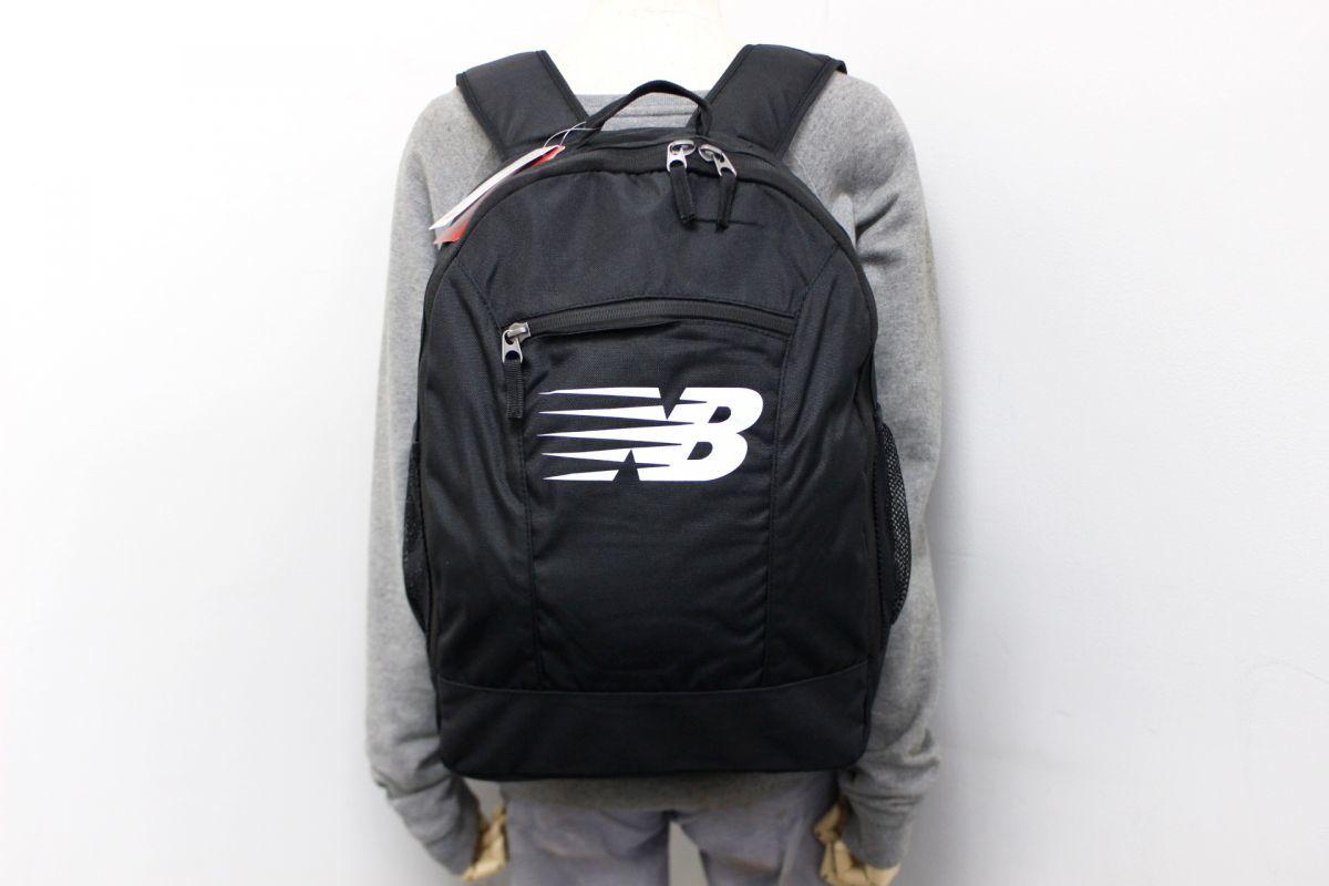 b3654755de7c5 ... ニューバランス new balance NB 新品 ロゴ入り デイパック リュックサック 鞄 黒[500320- ...