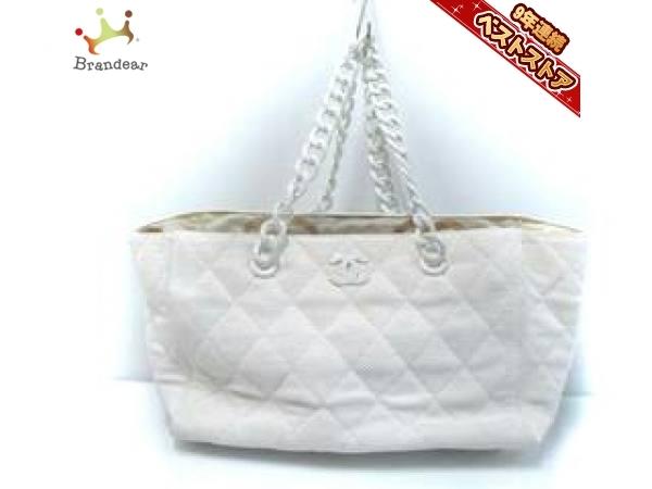 ec3a2a15a6a8 シャネル CHANEL トートバッグ A16279 マトラッセ ストロー×プラスチック 白 プラスチックチェーン 6番台 バッグの