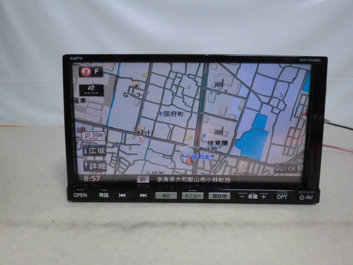 80d5b2d93f 保証付/スズキ車 OP サンヨー SANYO製HDDナビ NVA-HD3880 地デジ ...