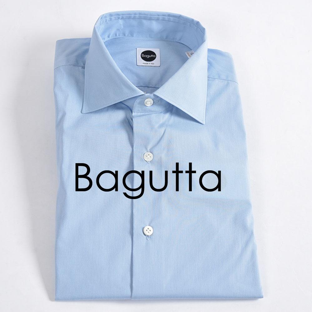 2d9d7f996b2af4 新品 2.4万 Bagutta ドレスシャツ ワイドカラー SHAPED 長袖 スリムフィット コットン ストレッチ 無地 イタリア製