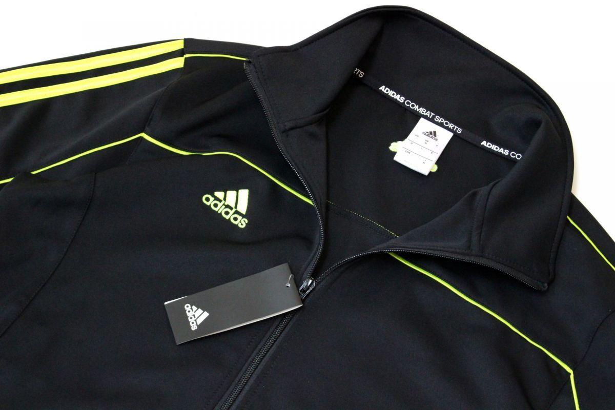 f2f1d9ff7b60e8 アディダス adidas 新品 メンズ ロゴ入り 3ライン ジップ ジャージ ジャケット 黒黄[D2158