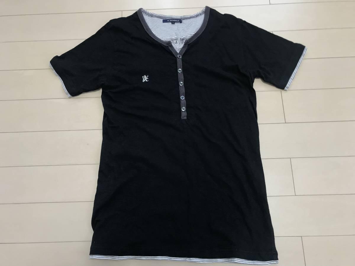 2039a7404064 R.NEWBOLD ポールスミス 半袖Tシャツ カットソー Lサイズ ブラックの1番目の