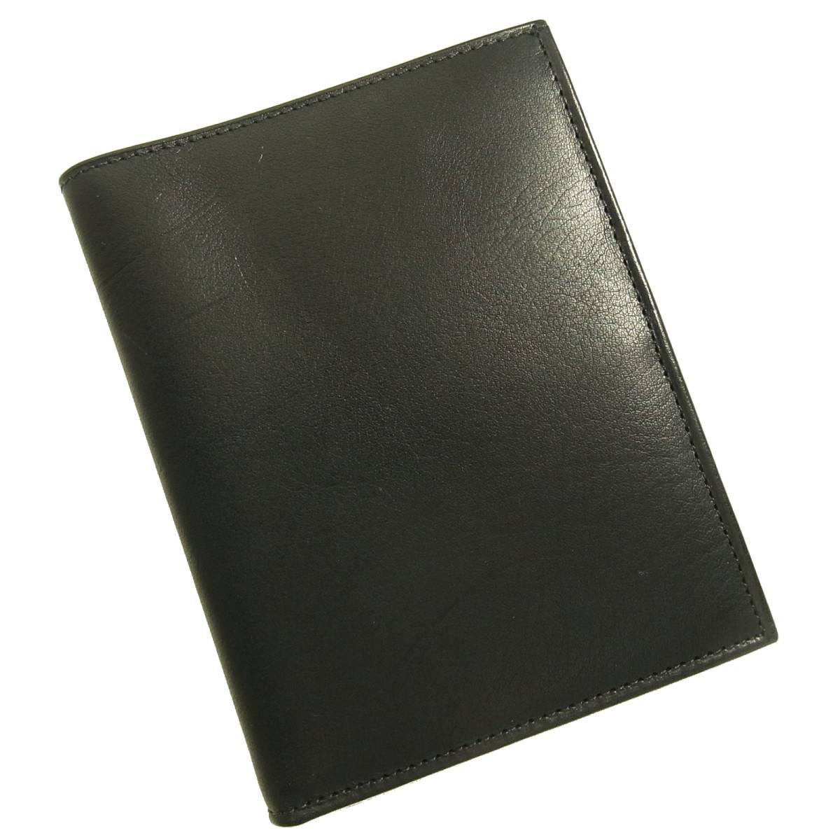 b69e52931b1d 美品 Coach オールドコーチ 二つ折り札入れ ID パスポートウォレット 4844 ブラック 黒 レザー パスポート
