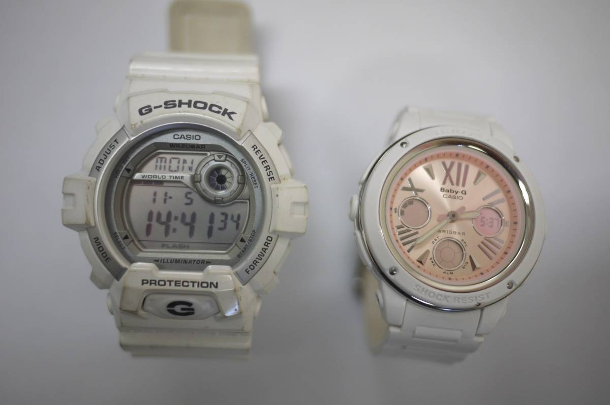 7b64a87f8c 中古】19 CASIO カシオ G-SHOCK Gショック PROTECTION 3285 G-8900A BABY ...