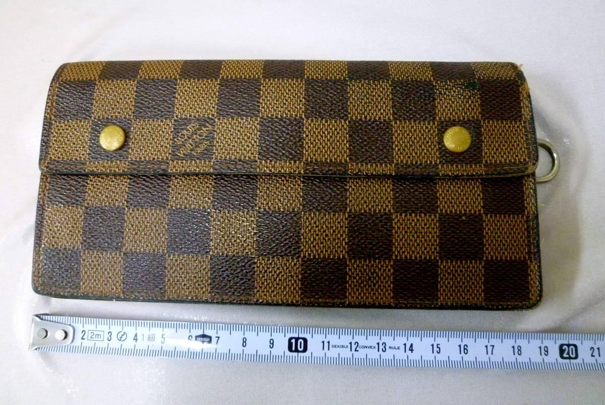402062a6c4c0 ルイ・ヴィトン 長財布 ダミエ ポルトフォイユ アコルディオン エベヌ LOUIS VUITTON 二つ折り 財布 本